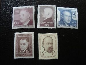Osterreich-Briefmarke-Yvert-Tellier-N-1519-1542-1582-1591-1636-N-MNH-COL9