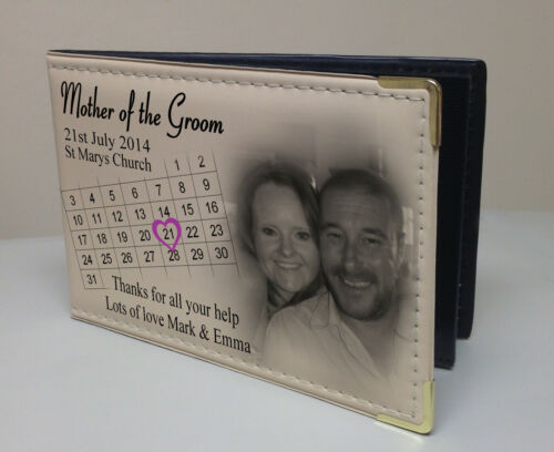 Personalised photo album Memory book Wedding day present for Mother of Groom