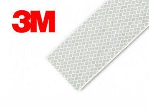 3M 983 Blanc Bande Adhésive Réfléchissante 55mm X 2 M ECE104 Conforme Grande