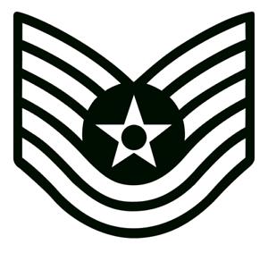 Car Bumper Sticker Truck V2 Air Force E6 Technical Sergeant Chevron Decal