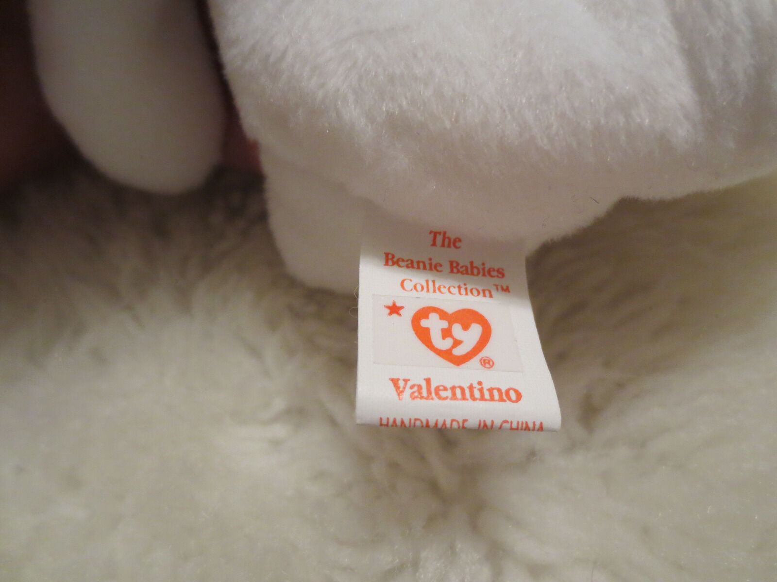 Retired Ty Valentino Beanie Baby Very Very Very Rare with Brown Nose 1994 and 1993 Tags 12ce08
