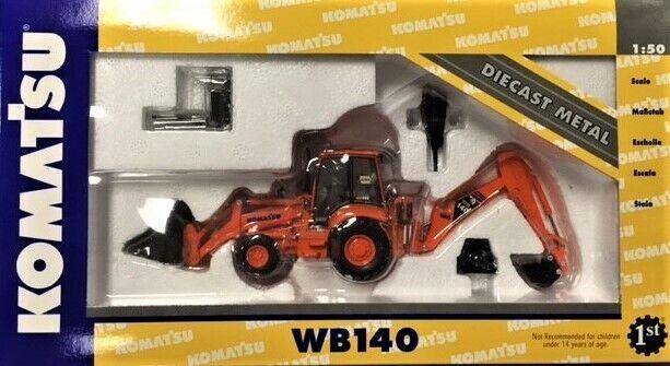 risparmia il 35% - 70% di sconto Primero Gear 50-0197 Komatsu WB140 Tractor Loader Hoe arancia Iowa Iowa Iowa 1 50 Die-cast MB  risparmia fino al 70%