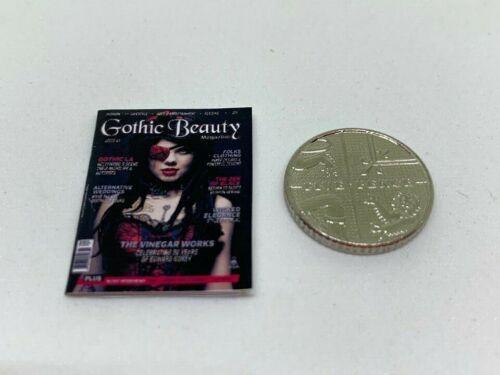 Handmade 1:12th Scale miniature maison de poupées Gothic Beauty Magazine