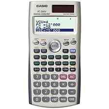 Casio FC-200V Financial Calculator with 4-Line Display 12 Digit Calculator New