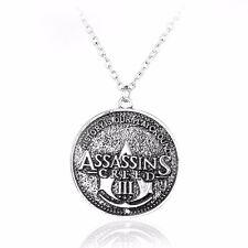 COLLANA ASSASSIN'S CREED III 3 - LOGO - Ezio Necklace Connor Kenway Ciondolo
