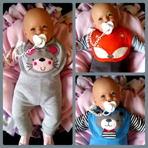 4tlg Baby Set cadeau baptême naissance premier équipement body pantalon chaussettes po Motif