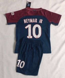 online retailer 1b787 087f6 Details about New Season 2018 Kids Soccer Jersey PSG Home #10 NEYMAR JR Kit  Top+Short Set
