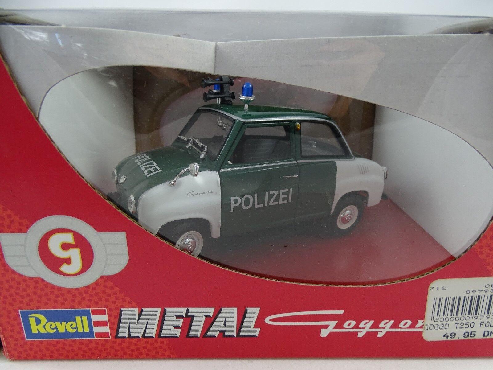 18 revell metall   08976 goggomobil t 250  polizei  - rarit ä t neu   ovp §