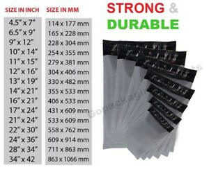 100-Grey-Mailing-Bags-Strong-Poly-Postal-Postage-Post-Mailer-Self-Seal-All-Sizes