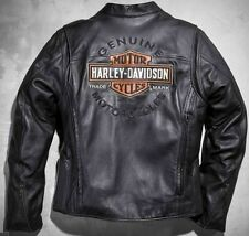 Harley Davidson Men ROADWAY Black Leather Jacket Bar & Shield 2XL 98015-10VM New