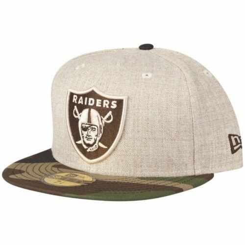 HEATHER OAT Oakland Raiders wood camo New Era 59Fifty Cap