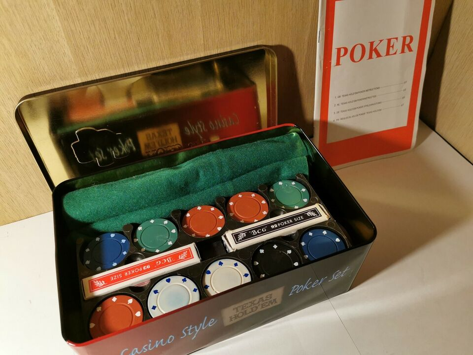 Pokersæt, Voksenspil, kortspil