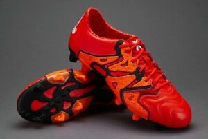 the best attitude 18987 151bd Details about ADIDAS X 15.1 FG/AG LEATHER B26980 Soccer Football Boots  Orange Black White