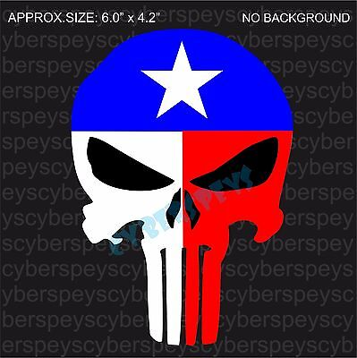 Texas Flag Punisher Style Design Drift Racing Stickers Car Vinyl Decals JDM
