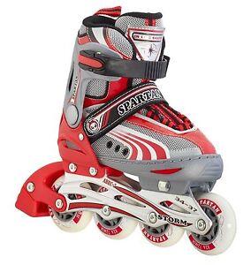 "Spartan Childrens Inliners ""Storm"", Adjustable, 252 Red, Inline Skates Adjustable"