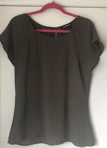 Express-Polyester-Blouse-Olive-Green-Size-M-GREAT-CONDITION