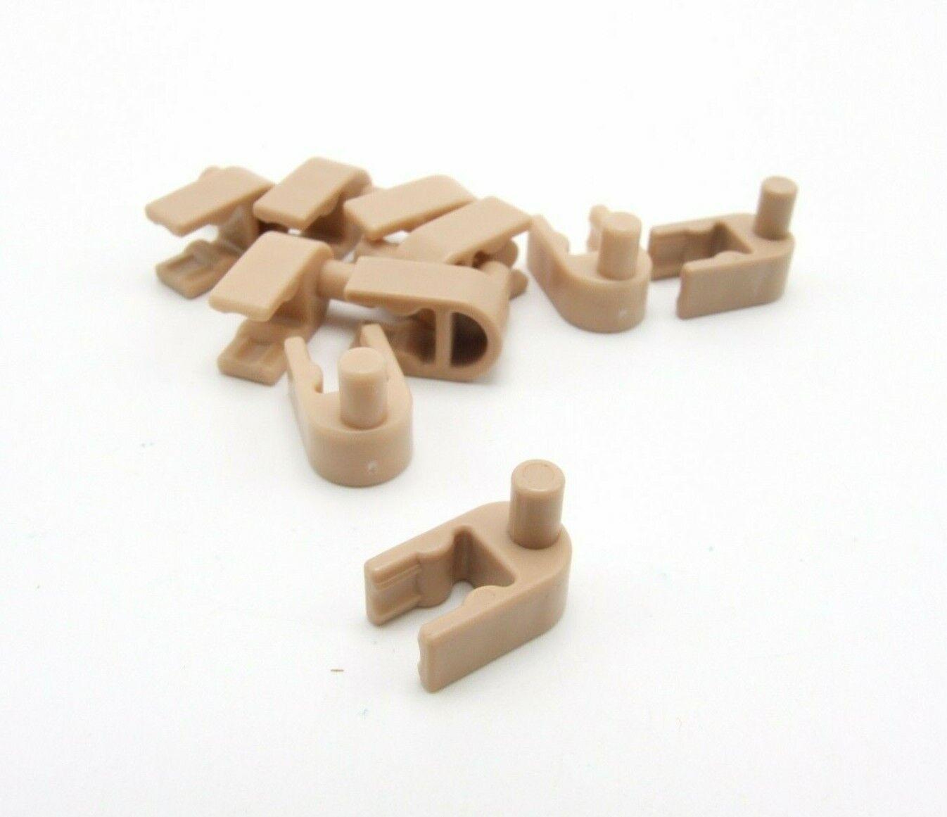 24 K/'nex Interlocking Clip Tan Replacement Part Piece Plastic 90900