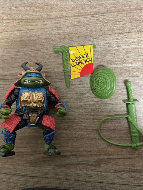 Vintage Ninja Turtles Leo The Sewer Samurai Playmates Toys 1990