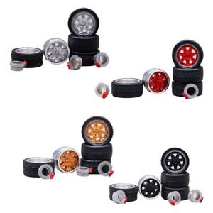 1-64-Toy-Rubber-neumaticos-Alloy-Wheels-neumaticos-4pcs-Hot-Wheels