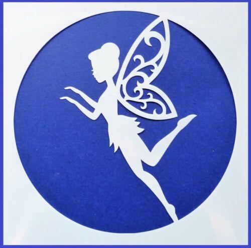 Flexible Stencil *FAIRY FLOURISH WINGS* Painting Craft Card Making 14cm x 14cm