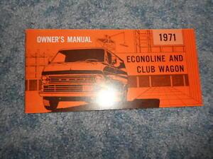 vintage  ford econoline club wagon owners manual