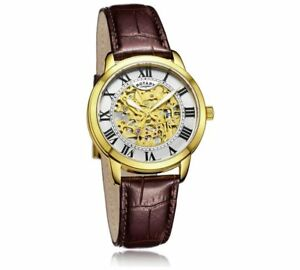 REDUCED-Genuine-Rotary-GS03096-Men-039-s-Skeleton-Automatic-Mechanical-Watch-RRP-179