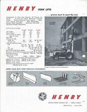 Equipment Brochure Henry Hammer Loader Backhoe Fork Lift Products E5343