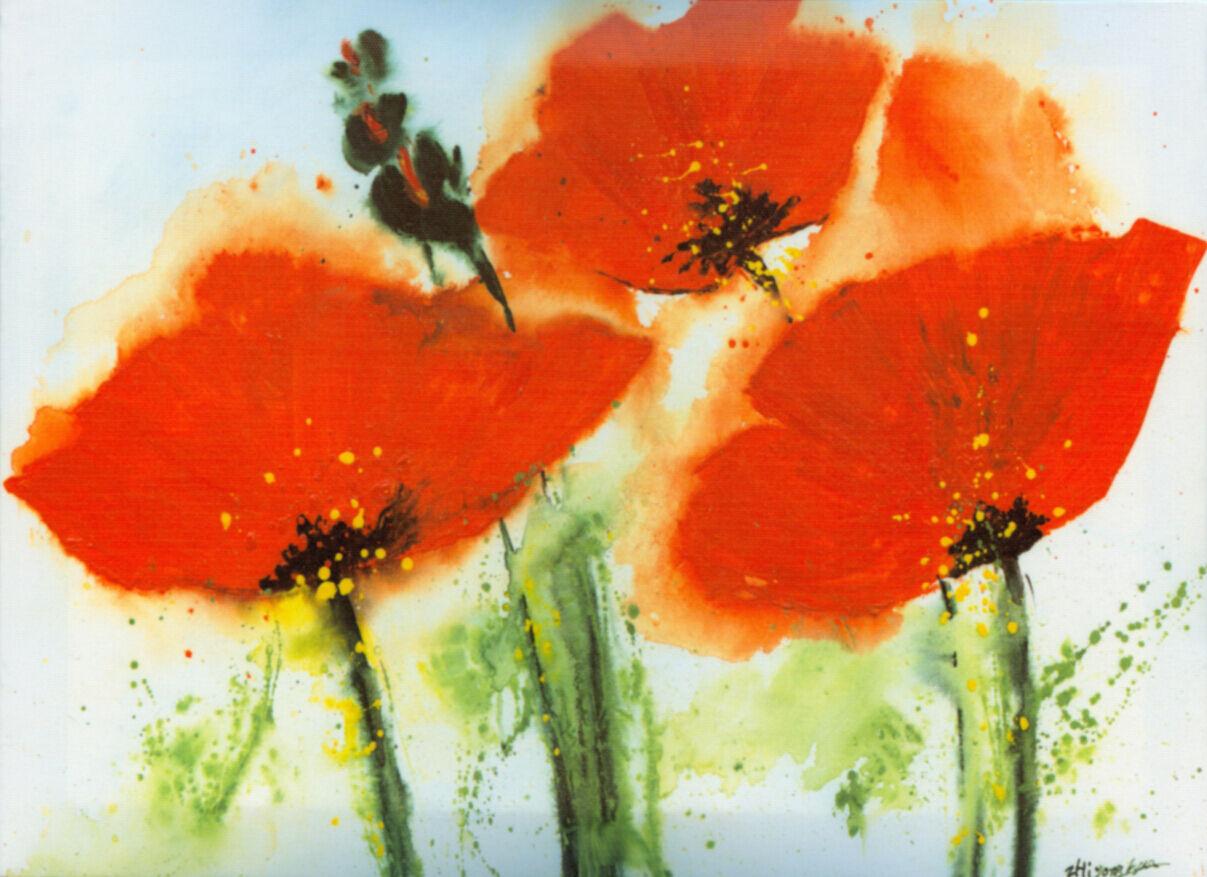 3D Mega rot Blossoms Painting3395 Wall Paper Wall Print Decal Wall AJ Wall Paper