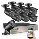 ZOSI 8ZN-106B8-00-US  1080p DVR 8 Channel Outdoor Home Surveillance Security System