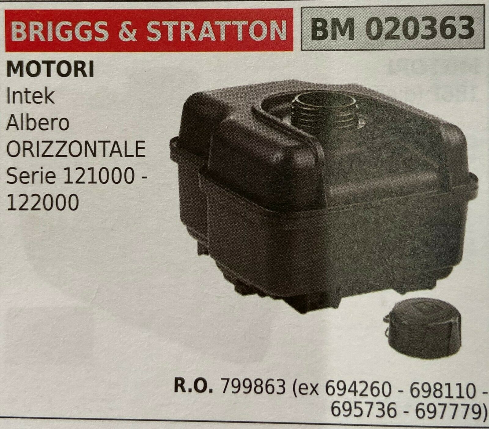Brumar Tank Briggs & Stratton BM020363