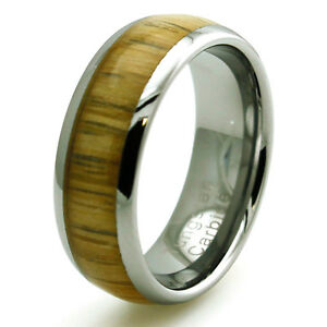 Image Is Loading Men 039 S Tungsten Carbide Yellow Cedar Wood