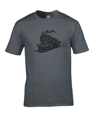 Gift For Grandad Steam Engine Train T Shirt Design Made With Musical Notes