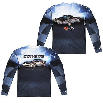 Chevrolet Silver 01 Vette Licensed Adult T-Shirt