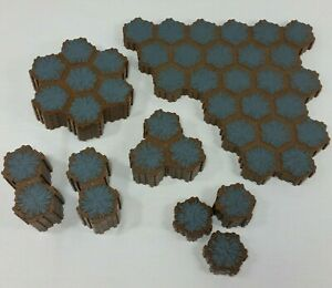Heroscape-Tile-Rock-Terrain-Gray-Stone-Lot-of-115-Hexes-From-Rise-Of-Valkyrie
