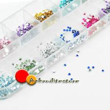 1200 Brillantini Strass Lacrima 12 Colori 2mm Unghie Ricostruzione Decoro