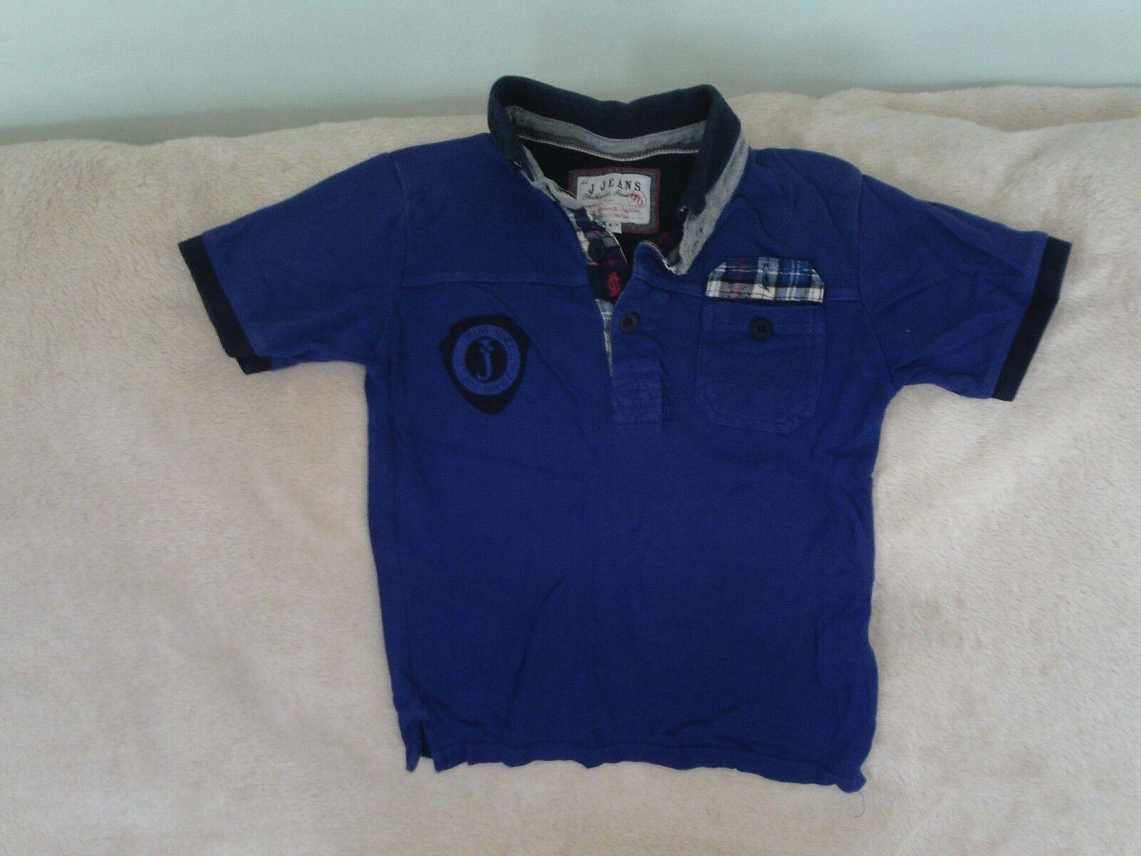 Garçons 6-7 Logo-J ans-bleu à Femmeches courtes Polo Haut Avec Logo-J 6-7 Jeans Debenhams a3a061