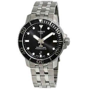 Tissot-Seastar-1000-Automatic-Black-Dial-Men-039-s-Watch-T1204071105100