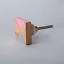 Pink Grey Resin Wood Mixed Media Knob Drawer Handle Cabinet Pull Bombay Duck