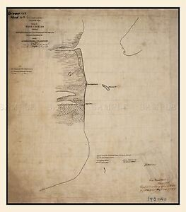 MAP-1863-MILITARY-HOSMER-REBEL-FORTIFICATIONS-CAVALLO-PASS-REPRO-PRINT-PAM1815
