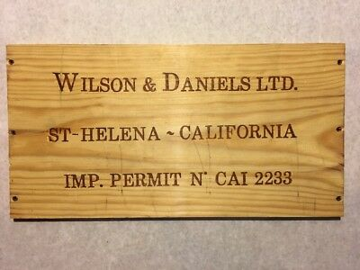 Wine Bags, Boxes & Carriers 1 Rare Wine Wood Panel Wilson & Daniels St Helena California Crate Box 3/18 325 Home & Garden