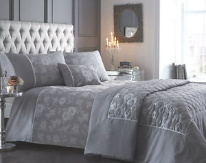 Image Is Loading Warwick Jacquard Silver Beautiful Quilt Cover Sets Bedding