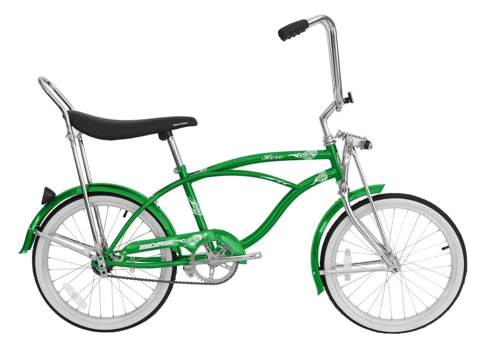 Micargi MBI 20  for  boy Lowrider Beach Cruiser Bicycle Bike Low Rider Green
