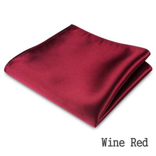 Square Wedding Party Handkerchief Plain Satin Pocket Towel Solid  Color