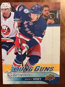 2016-17-UD-Hockey-Series-1-Young-Guns-Canvas-Rookie-Jimmy-Vesey-C105