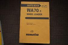 Komatsu Wa70 Wheel Loader Parts Manual Book Catalog Spare Front End Rubber Tire