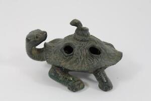 Skulptur Figur Bronze Schildkröte Antik Stil