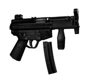 1:1 Scale CS MP5K Submachine Gun Uzi 3D Paper Model Puzzle Kit Cosplay DIY Gift