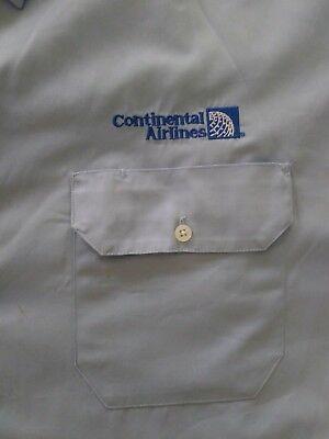 Vintage light blue Continental Airlines Cargo uniform Shirt new short sleeve XXL