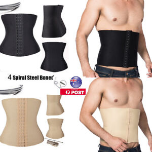 Men-Body-Shaper-Slim-Waist-Trainer-Cincher-Tummy-Belt-Corset-Shapewear-Girdle-AU
