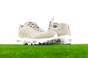 huge discount b0056 20136 Image is loading NIKE-AIR-MAX-95-PRM-COBBLESTONE-WHITE-MENS-